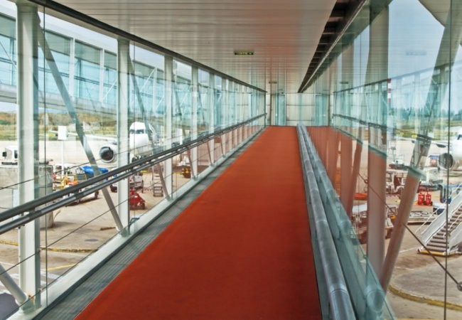 An airport walkway at CDG | Shutterstock Fedor Selivanov