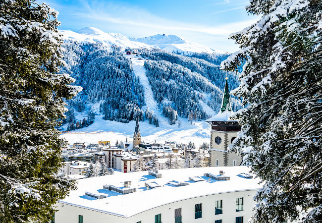 Both on and off Ski, it all happens in Davos | Shutterstock