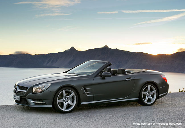 A drive through the South of France in a Mercedes Benz SL