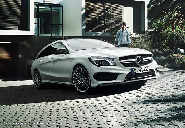 The Mercedes- Benz CLA 45 AMG, brought to you from a world of wealth and class