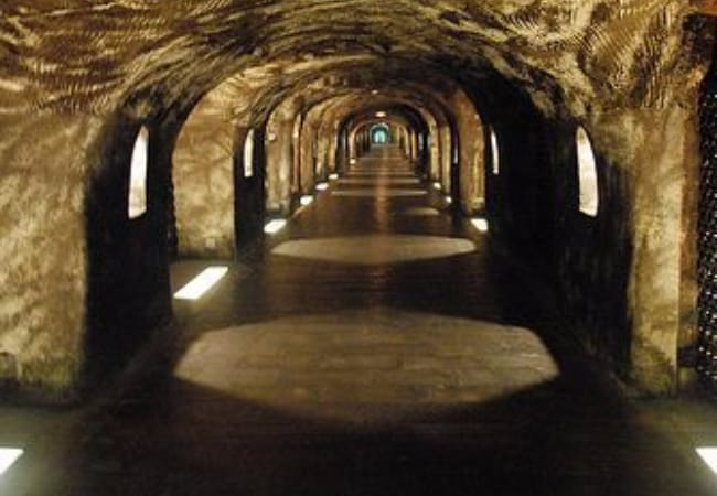 Moet and Chandon tunnels - Underground wine cellars
