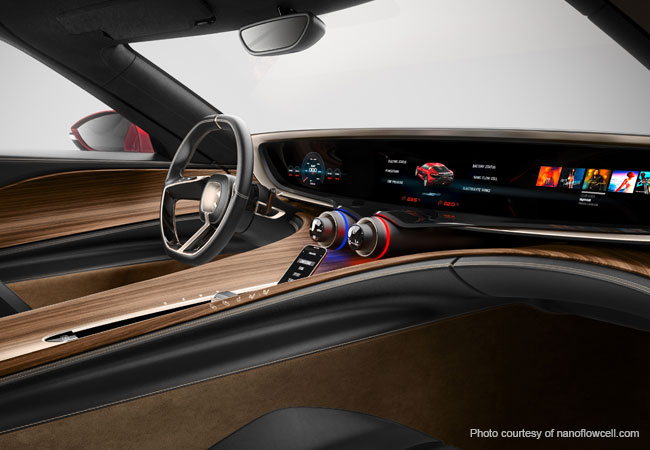 The 1.25 meter display, spans the entire dashboard