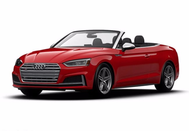 Bold red Audi S5 Cabriolet