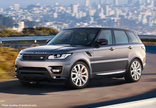 The Range Rover Sport strikes a sleek and handsome pose