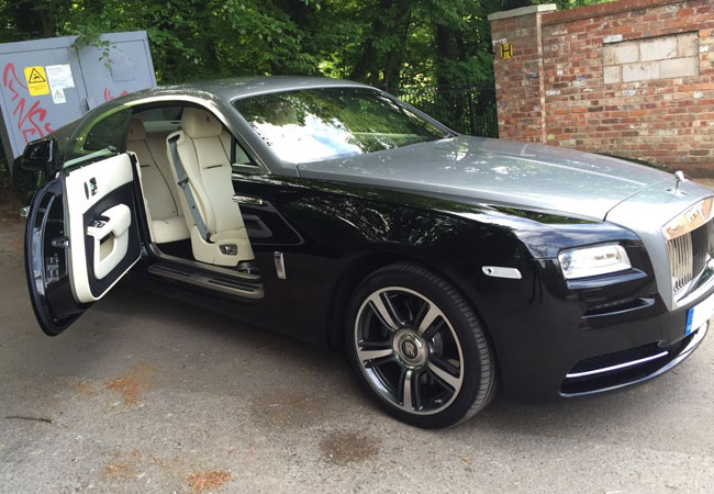 Our Rolls Royce Wraith, quite possibly the rental favourite.