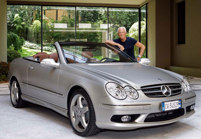 Only 100 cars were produced as part of the exclusive special-edition CLK-Class Cabriolet line personalised by renowned Italian fashion designer, Giorgio Armani.