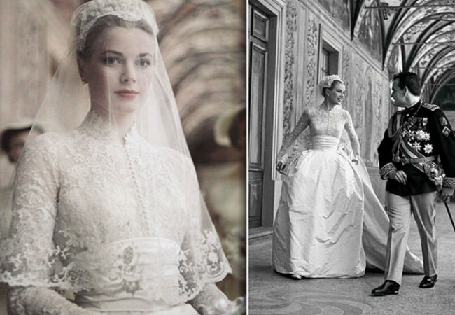 The bride in the famous dress designed by Helen Rose