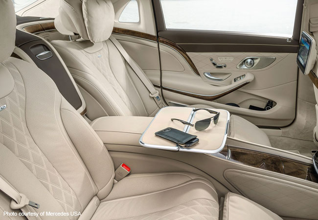 The luxurious rear seats