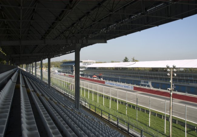Grandstand at Monza racetrack |Belle Momenti Photography / Shutterstock