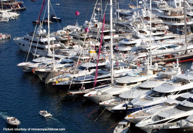 The Monaco Yacht Show attracts around 28,000 professionals yearly