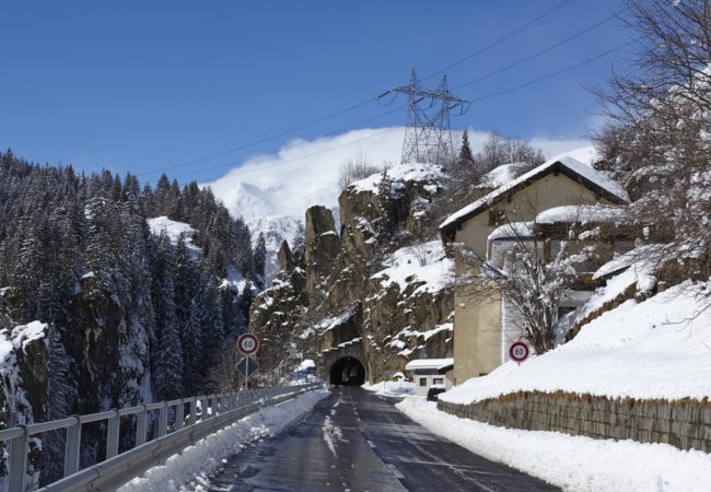 Entrance to St Gotthard Tunnel | Olaf Schulz/Shutterstock
