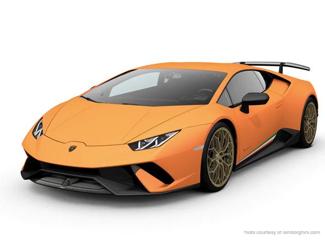 Lamborghini Huracan Performante Rental, Birmingham, Florence Hire